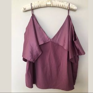Napean Sea Rd Purple Silky Top Size XL PETITES NWT